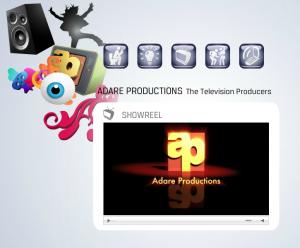 Screenshot of Adare Production's website