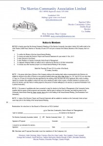 AGM Notice to Members 2014