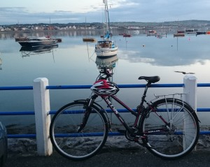bike in front of harbour