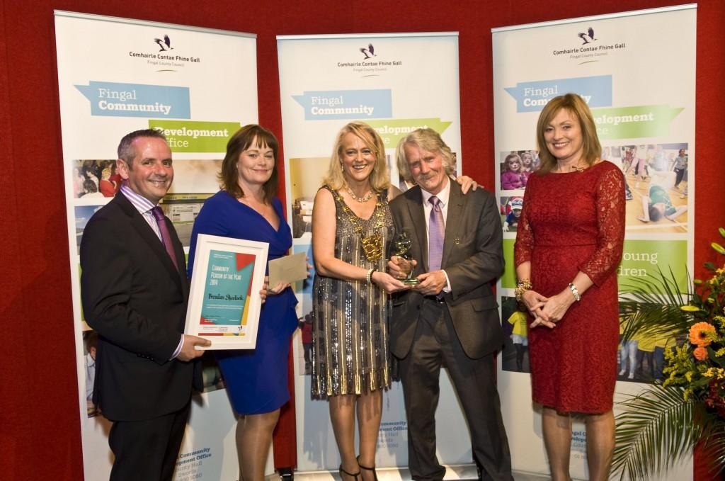 Brendan Sherlock receiving Community Person Award