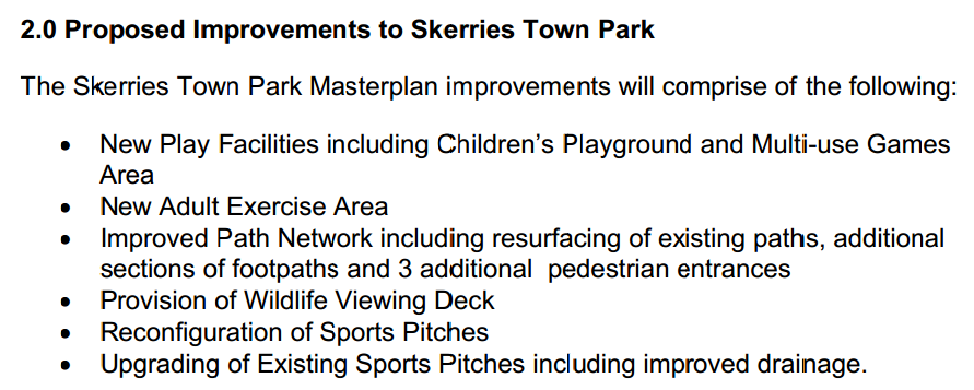 Skerries Town Park Proposed Improvements