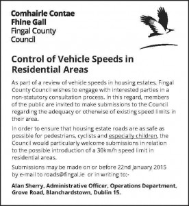 Speed Consultation FCC