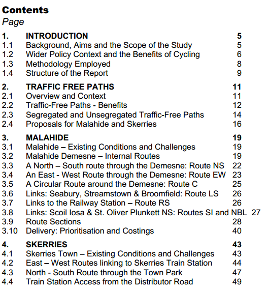 Sustrans Contents part 1
