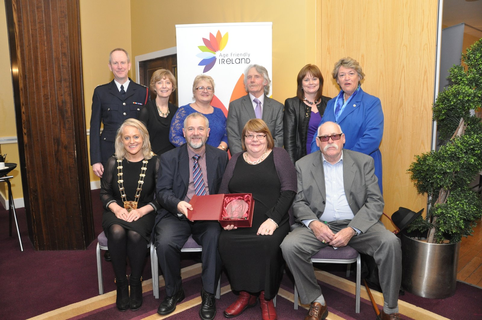 "n this picture: Back row: Brendan McNicholas 3rd Officer Dublin Fire Brigade; Eithne Mallin – FCC; Louise Edmonds – FCC; Brendan Sherlock – Skerries Community Association; AnnMarie Farrelly – FCC; Nora Owen – Chair Fingal Age Friendly Alliance; Front row: Cllr Mags Murray – Mayor of Fingal; Martin Russell – Skerries Community Association; Mary Conway Skerries Community Association; Bob McAlpine – Vice Chair Fingal Senior Citizen's Forum Photo: Leo ""George"" Devitt"